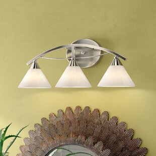 Best Reviews Beecroft 3-Light Shaded Vanity Light By World Menagerie