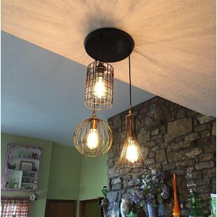 Tarsha 3-Light Cluster Pendant by Williston Forge