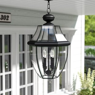 Gustavson 4-Light Outdoor Hanging Lantern by Three Posts