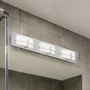 Latitude Run Lippert 3-Light Bath Bar
