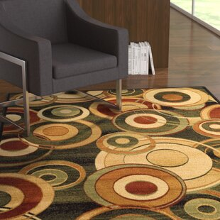 Buying Chani Power Loomed Black/Beige Circle Area Rug By Ebern Designs