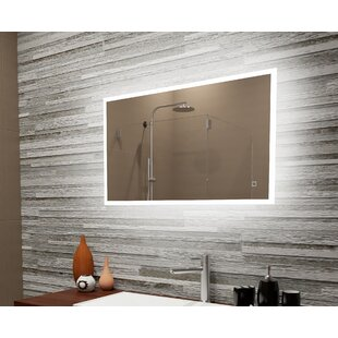Bombard Reflection Dimmable LED Lighted Frosted Edge Bathroom/Vanity Mirror By Orren Ellis