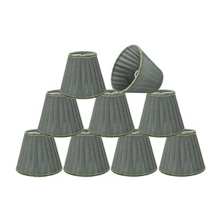 Pleated 5'' Fabric Empire Lamp Shade (Set of 9)