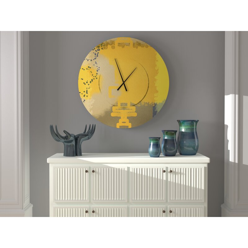 East Urban Home Oversized Bahari Wall Clock