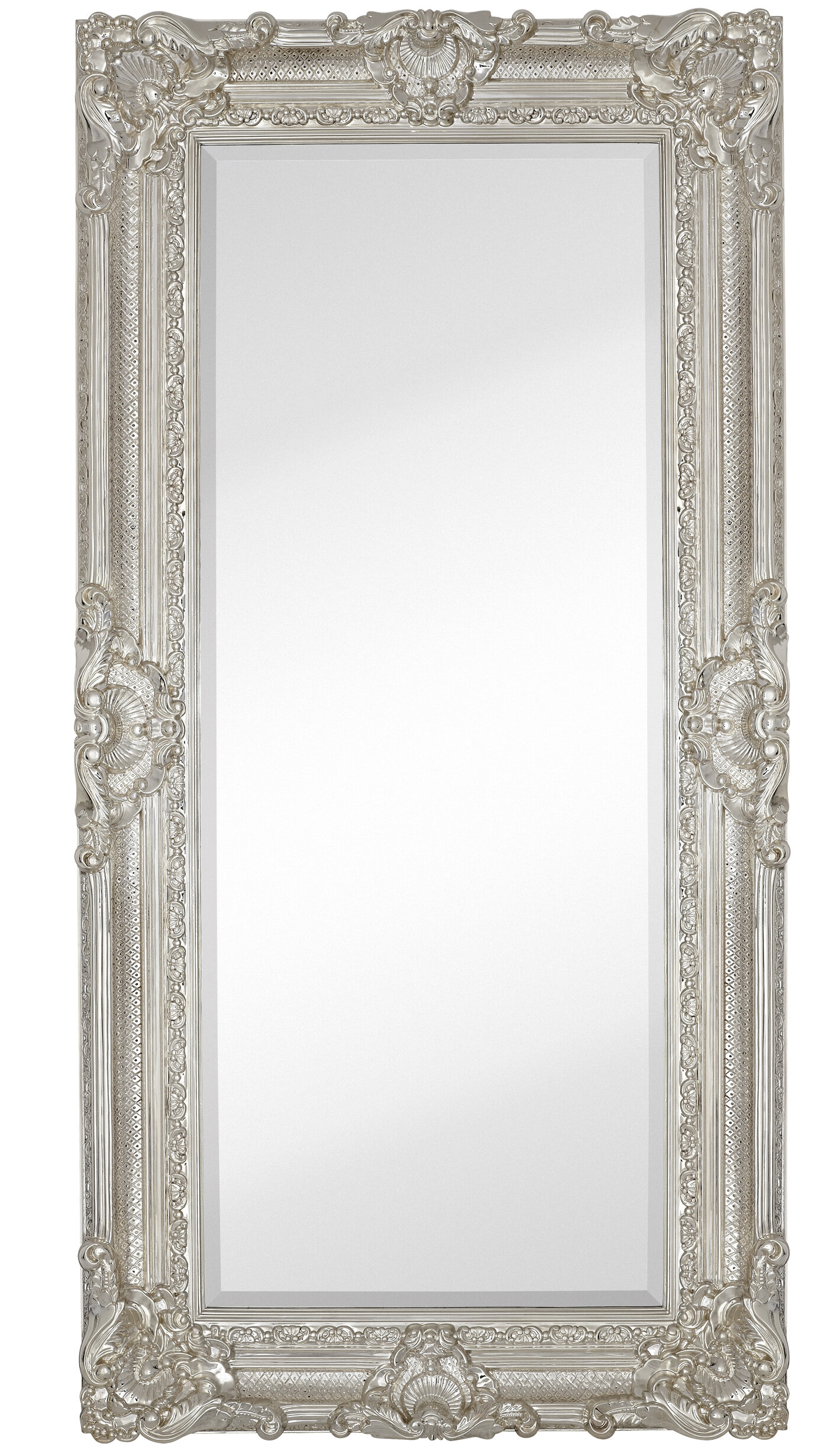 Rectangle Mirror Frame. Majestic Mirror Large Traditional Polished Chrome  Rectangular Beveled Glass Framed Wall |