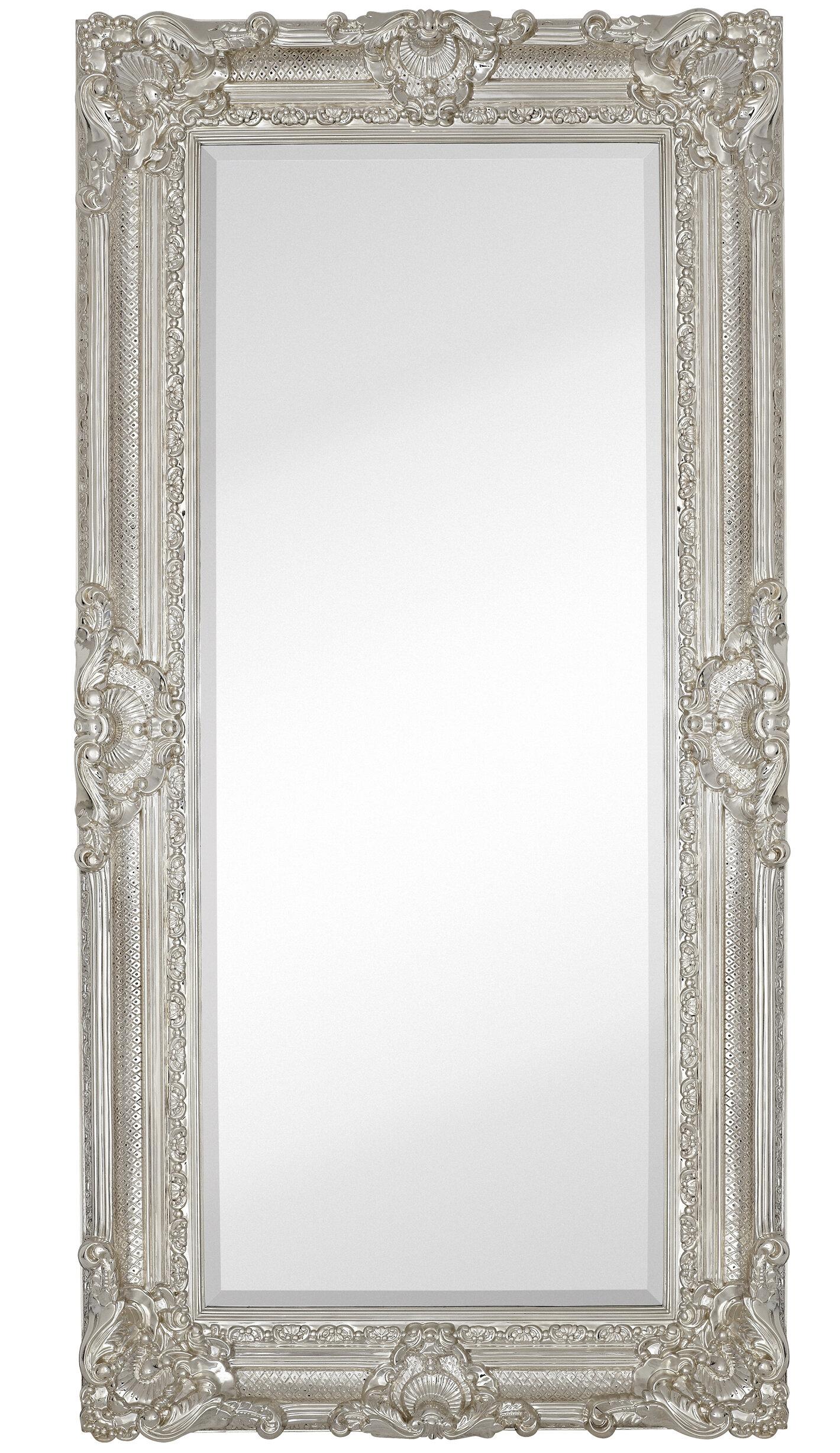Majestic Mirror Large Traditional Polished Chrome Rectangular Beveled Gl Framed Wall Wayfair