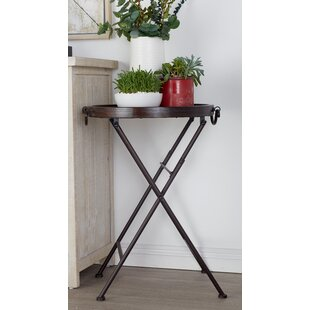 Metal and Wood Tray End Table by Cole & Grey