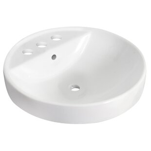 Find Ceramic Circular Undermount Bathroom Sink with Overflow By Royal Purple Bath Kitchen