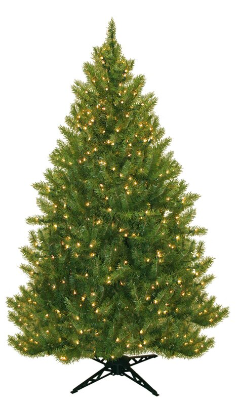 three posts 65 evergreen fir artificial christmas tree with 450 clear lights reviews wayfair - Artificial Christmas Trees On Sale