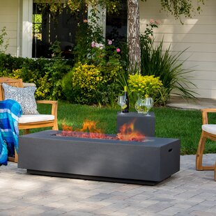 Orren Ellis Belle Stone Propane Fire Pit Table
