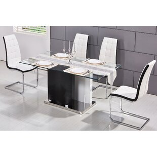 BestMasterFurniture Modern Glass Dining T..