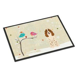 Christmas Presents Between Friends Russian Spaniel Doormat
