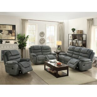 Sumpter Reclining Motion 3 Piece Living Room Set by Red Barrel Studio