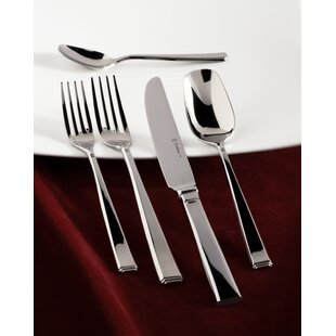 Scalini 5 Piece 18/10 Stainless Steel Flatware Set, Service for 1