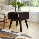 Mabon Solid Wood End Table with Storage by Ebern Designs