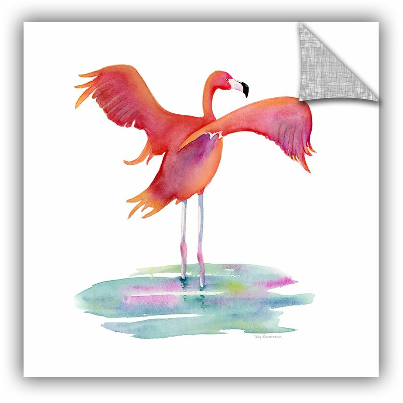 Artwall Flamingo Wings Removable Wall Decal Wayfair