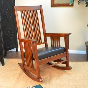 Simple Wooden Rocking Chair rocking chairs you'll love
