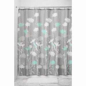 aqua and gray shower curtain.  Gray Silver Shower Curtains You ll Love Wayfair
