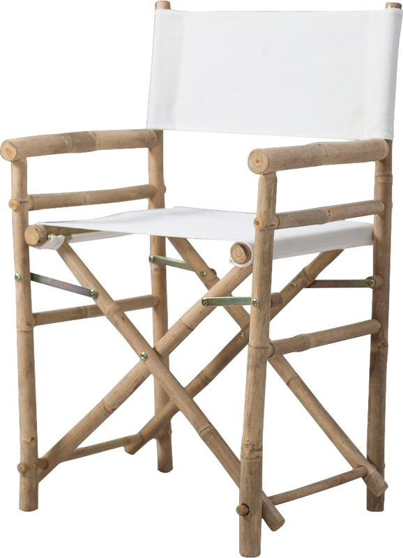 Jolicia Hand Crafted Outdoor / Indoor Bamboo Director Chair