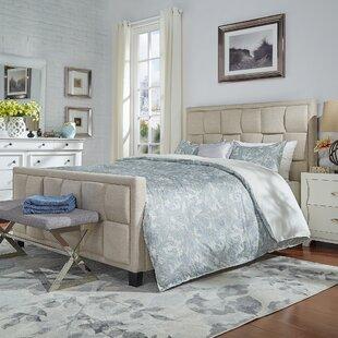 Gina Linen Upholstered Panel Bed by Brayden Studio