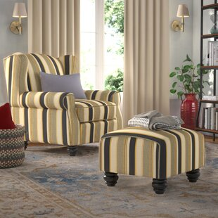 Fantastic Brougham Wingback Chair And Ottoman Dailytribune Chair Design For Home Dailytribuneorg