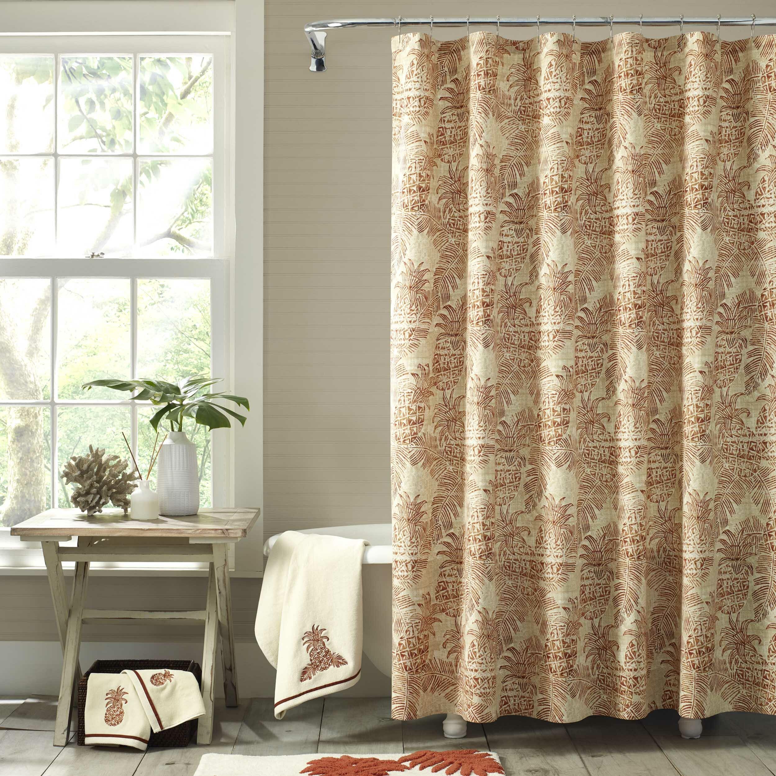 Batik Pineapple 100 Cotton Shower Curtain