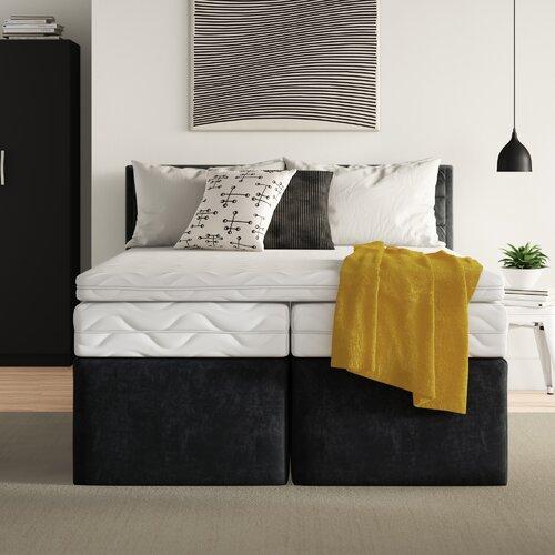 Boxspringbett Reginald ohne Topper Zipcode Design Matratze / Härtegrad: 5 Zonen-Tonnentaschenfederkernmatratze| H3| Liegefläche: 200 x 200 cm| Farbe: | Schlafzimmer > Betten | Zipcode Design