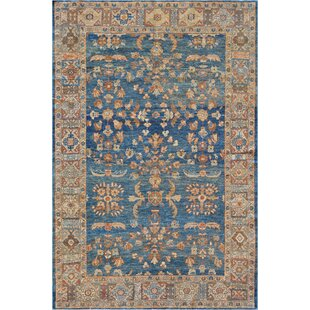 One-of-a-Kind Antique Sultanabad Handwoven Wool Sapphire Indoor Area Rug by Mansour