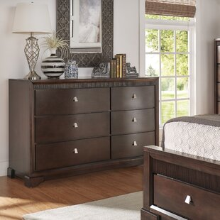 Three Posts Cardone 6 Drawer Double Dresser with Mirror