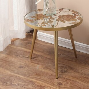 Demetrius Metal And Mirror 4 Piece End Table By House Of Hampton