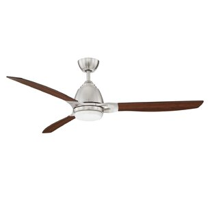 Affordable Price 52 Amd 3 Blade LED Ceiling Fan with Remote By 17 Stories