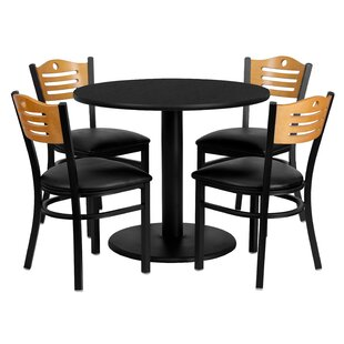 Santosh 5 Piece Dining Set Red Barrel Studio