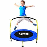 """Toddler Heavy Duty 36"""" Round Trampoline with Handlebar"""