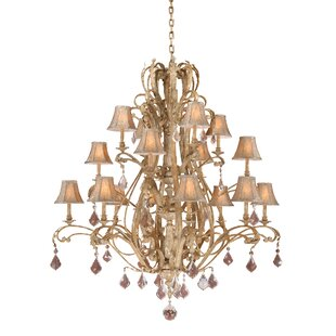 Fleur De Lis Living Broughton 16-Light Shaded Chandelier