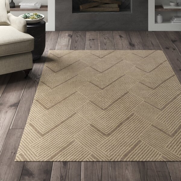 Greyleigh Weybridge Chevron Hand Knotted Wool Light Brown Area Rug Wayfair