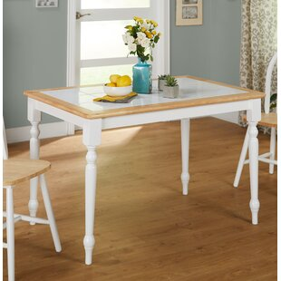 Tara Tile Top Dining Table In White And Natural