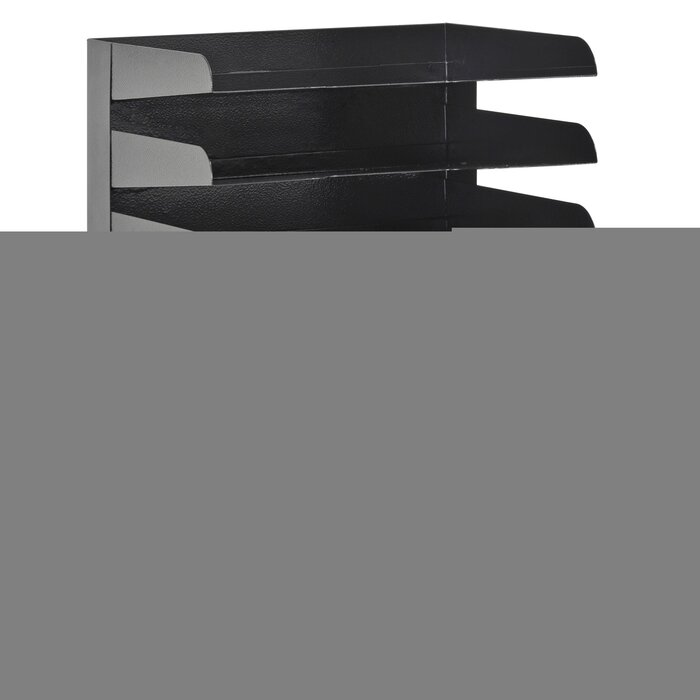 Desk Accessories Workspace Organizers Office Products 9 5 X 16 X 12 Inch Black Buddy Products Classic 7 Tier Trays 0407 4 Letter Size Taraazi Com