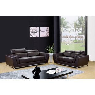 Dela 2 Piece Leather Living Room Set by Hokku Designs