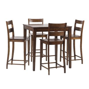 Gambino Rustic 5 Piece Pub Table Set