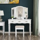Arias Dressing Table Set with Mirror