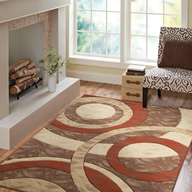Ebern Designs Ropesville Abstract Beige Brown Area Rug Wayfair