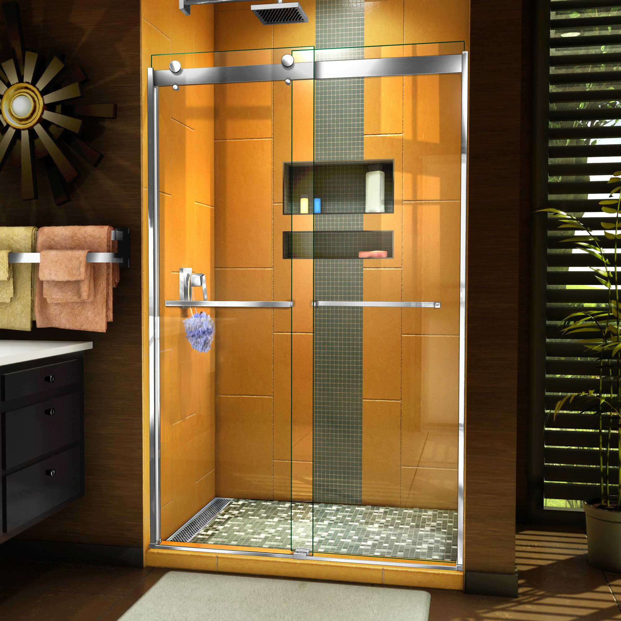 Sapphire 48 X 76 Bypass Semi Frameless Shower Door