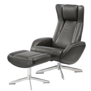 Orren Ellis Castle Maya Swivel Lounge Chair and Ottoman