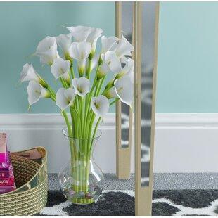 Small Calla Lily in Glass Vase