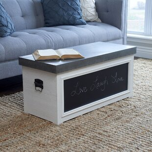 Vinoy Chalkboard Coffee Table with Storage by Rosalind Wheeler