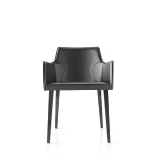 Nora Genuine Leather Upholstered Dining Chair by YumanMod