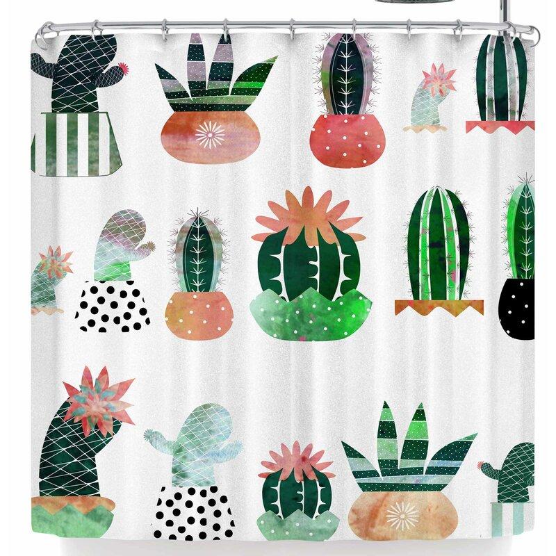 Bruxamagica Cactus Shower Curtain
