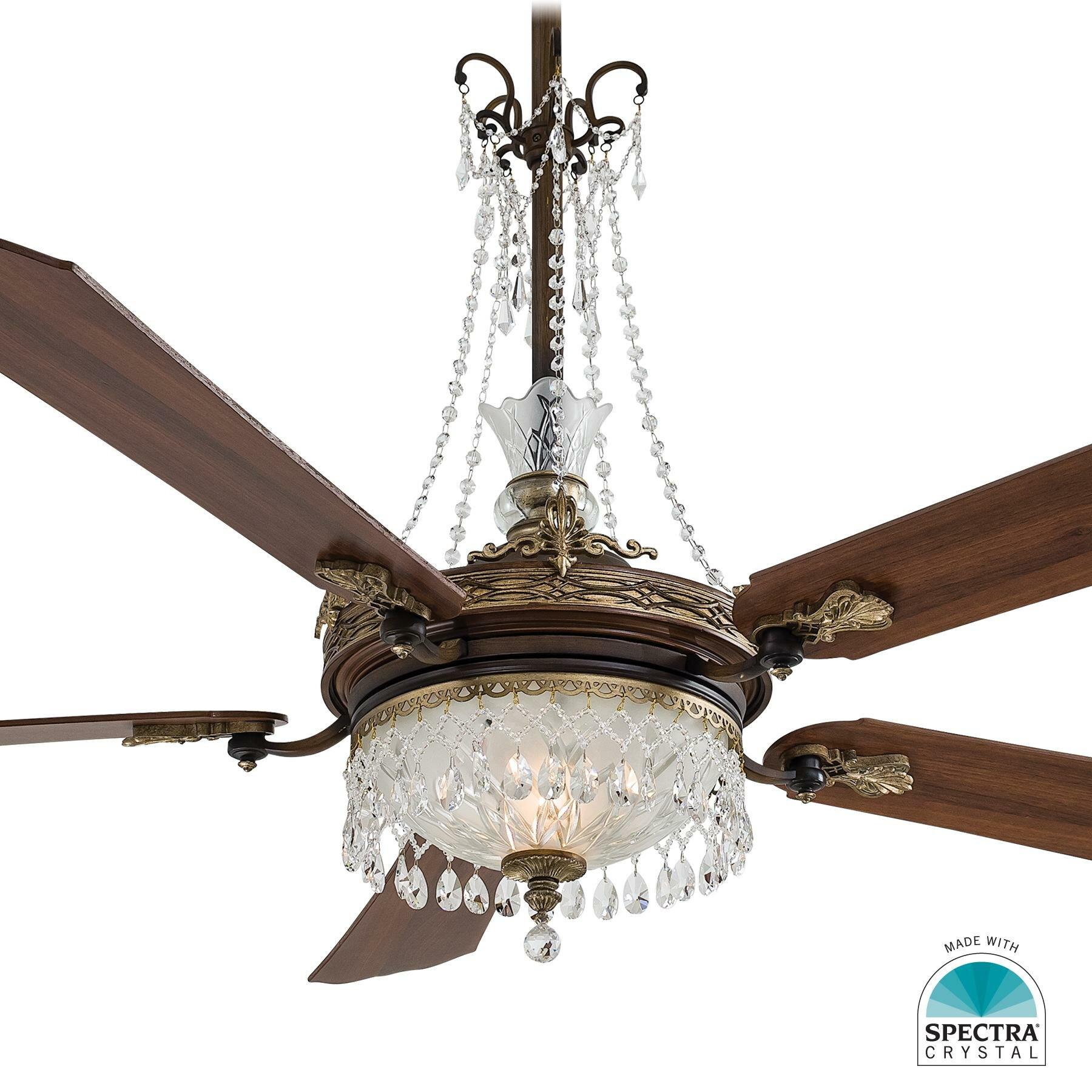 Minka aire cristafano chandelier ceiling fan light kit wayfair arubaitofo Gallery