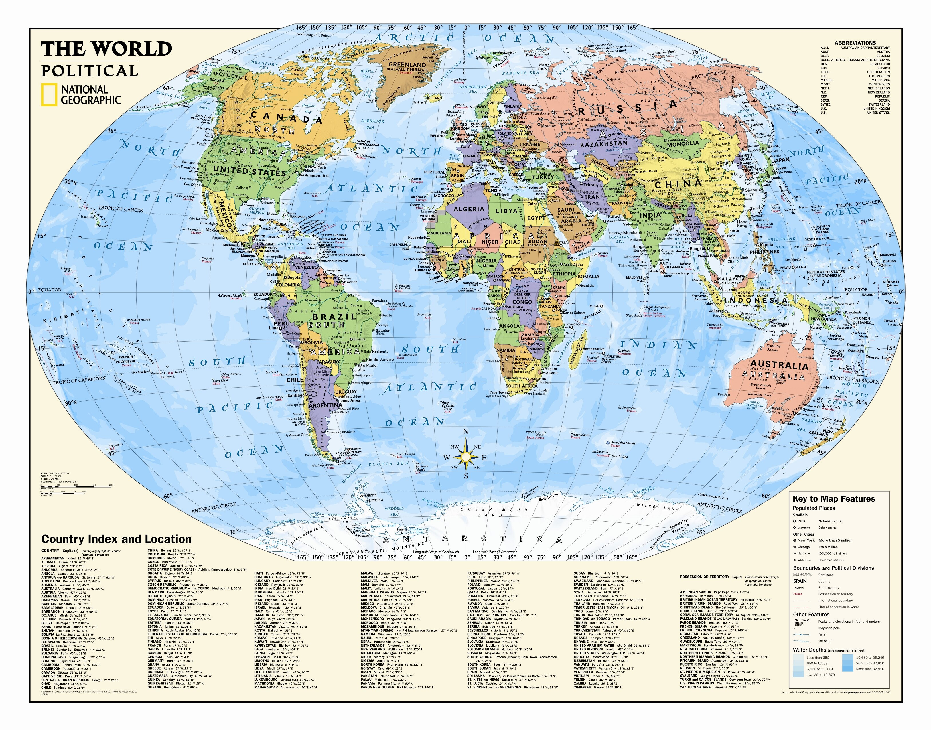 A Political Map Of The World.Kids Political World Wall Map Grades 4 12