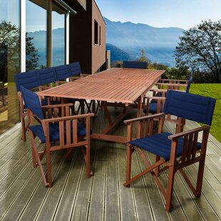 Beachcrest Home Foss Extendable Patio 11 Piece Dining Set
